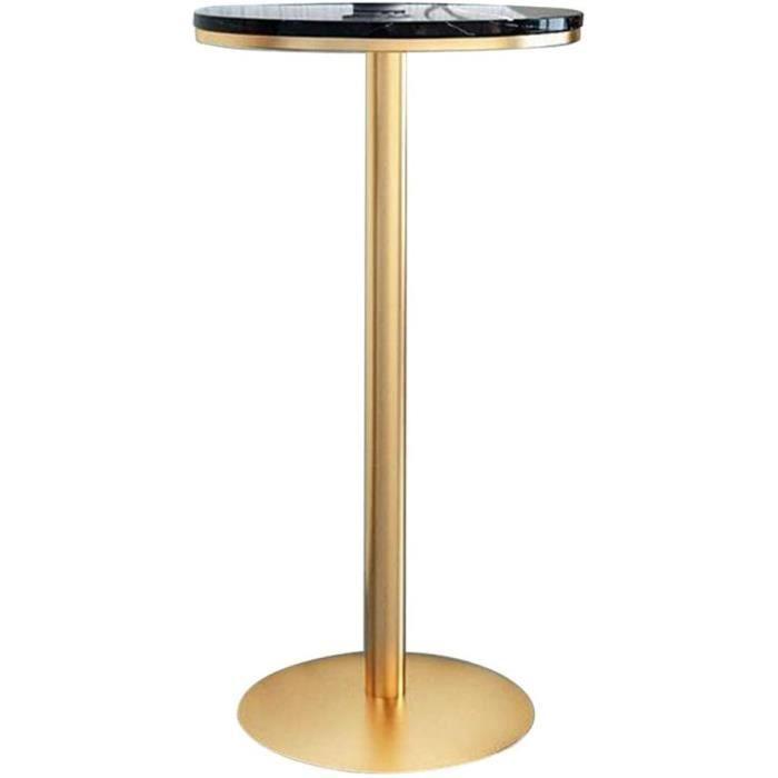 TABLE DE BAR YLMF Table de Bar en marbre, marbre de Haute qualit&eacute, Pieds de Table en Fer forg&eacute, Base Stable, Facile159