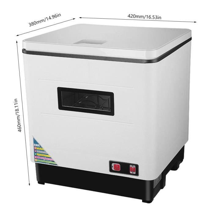 Cyanshop® Lave-vaisselle Compact Mini Lave-vaisselle -- Lavage 360°, Séchage UV Haute Température Moyenne Température