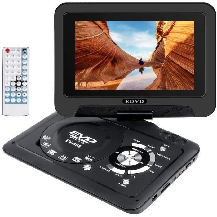 Lecteurs DVD portables Wimaha Lecteur de DVD Portable HDMI Prise en Charge Gratuite de Toutes Les régions Carte SD Disqu 5830