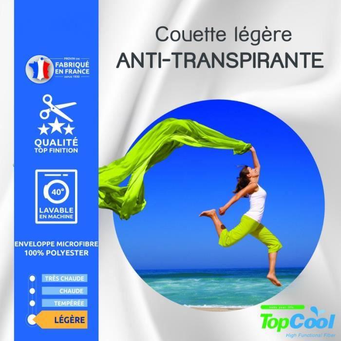 Couette légère - Anti transpirante - Pour lit King size - 240 x 260 cm