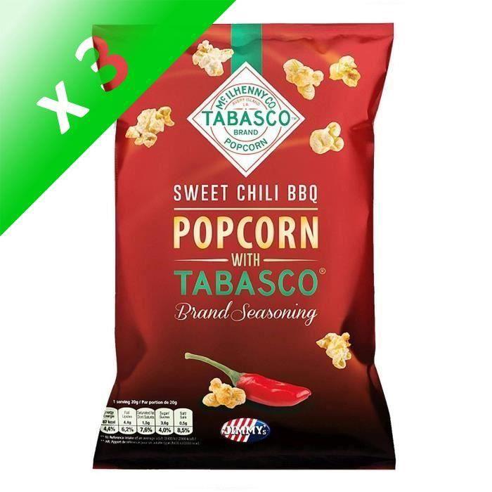 [LOT DE 3] Pop corn Tabasco BBQ 90g