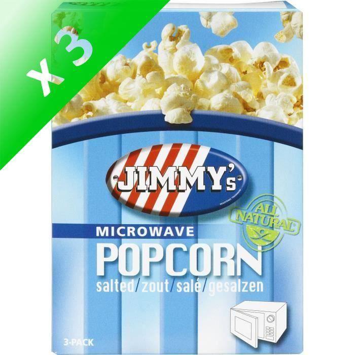 [LOT DE 3] Pop corn Micro onde salé 3x90g