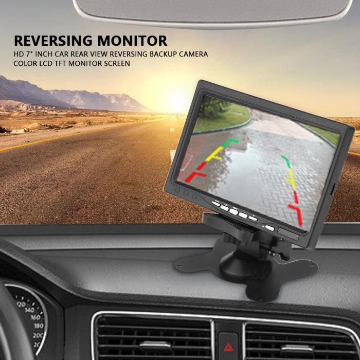 Cikonielf HD 7 'pouces Caméra de Recul Kit Système + Ecran Moniteur LCD TFT Pr Voiture Camion Bus