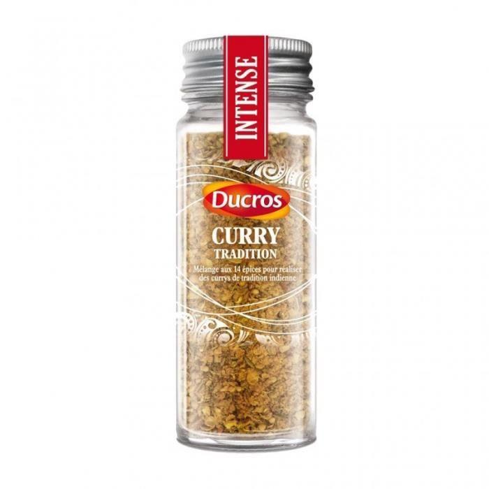 Ducros Torréfié Curry Tradition Mélange aux 14 Épices Intense 39g (lot de 3)