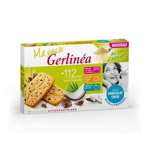 GERLINEA Biscuits de son d'avoine, au chocolat et noix de coco - 200 g