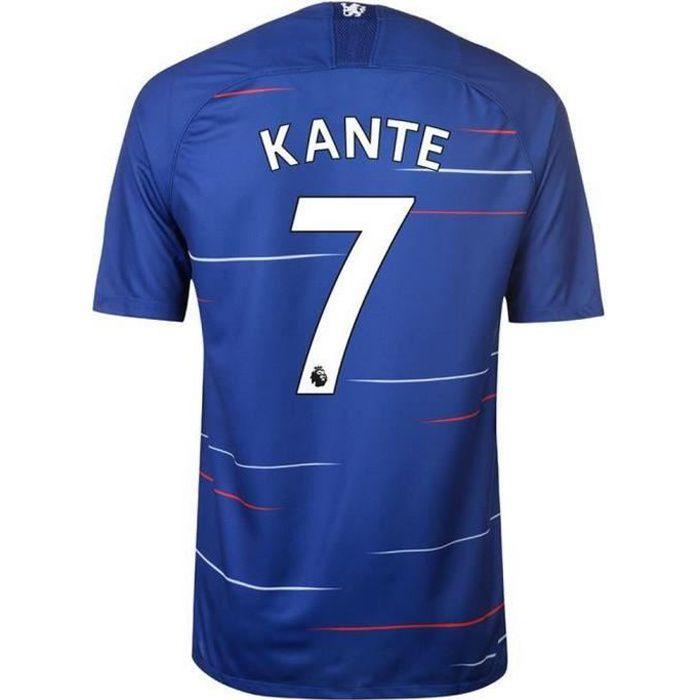 Nouveau Maillot Homme Nike Chelsea FC Domicile Flocage Officiel N'Golo Kanté Numéro 7 Saison 2018-2019