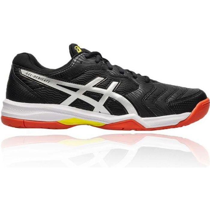 ASICS Chaussures de tennis Gel-Dedicate 6 - Homme - Noir, orange et jaune