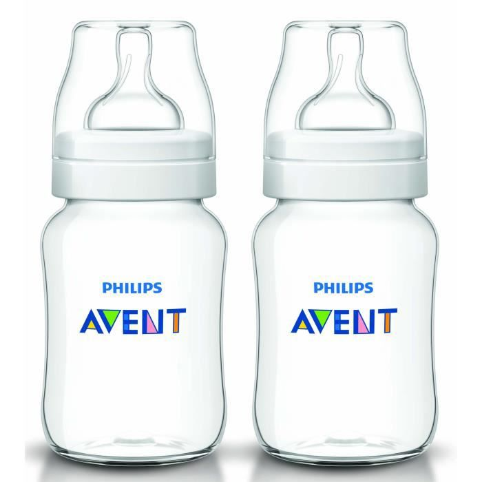 PHILIPS AVENT Lot de 2 biberons 260ml Classic+
