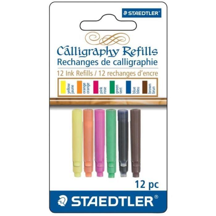 Cartouches d'encre pour stylo plume 'Staedtler' Couleurs variées Qté 12