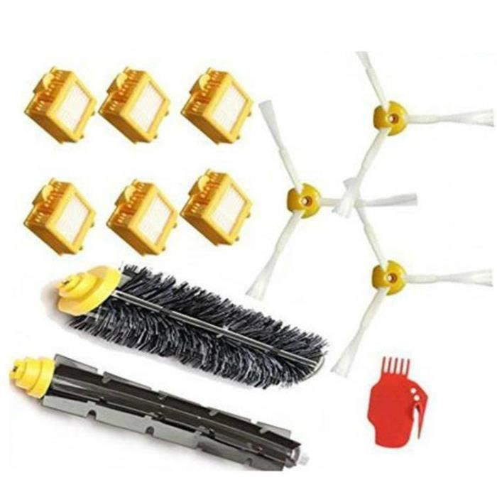 STOEX® Kit Extracteur Brosse + Filtres HEPA + Brosse Latérale + Lame Pour iRobot Roomba Série 700