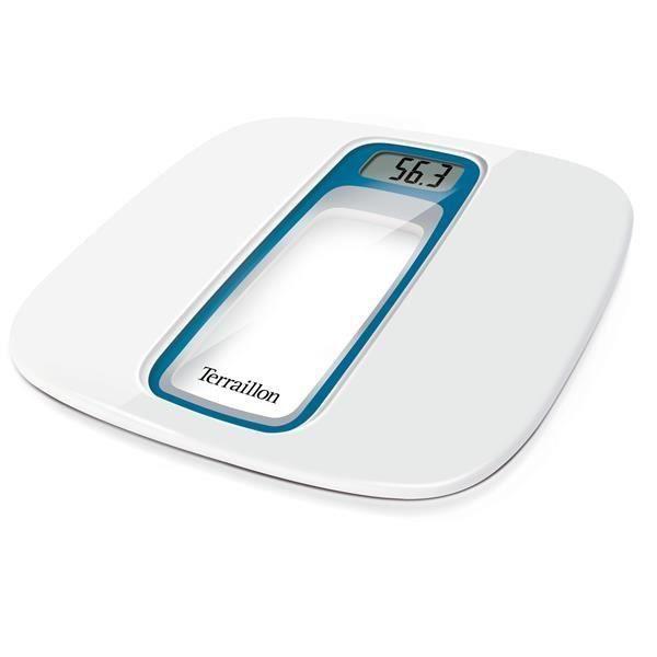 terraillon - pèse-personne électronique 160kg/100g blanc/bleu - 14470