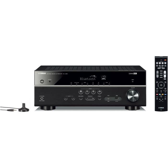 YAMAHA RX-V385 Noir Ampli-tuner Home-Cinéma 5.1 - 5 x 70 W - Bluetooth - 4 X HDMI - YPAO