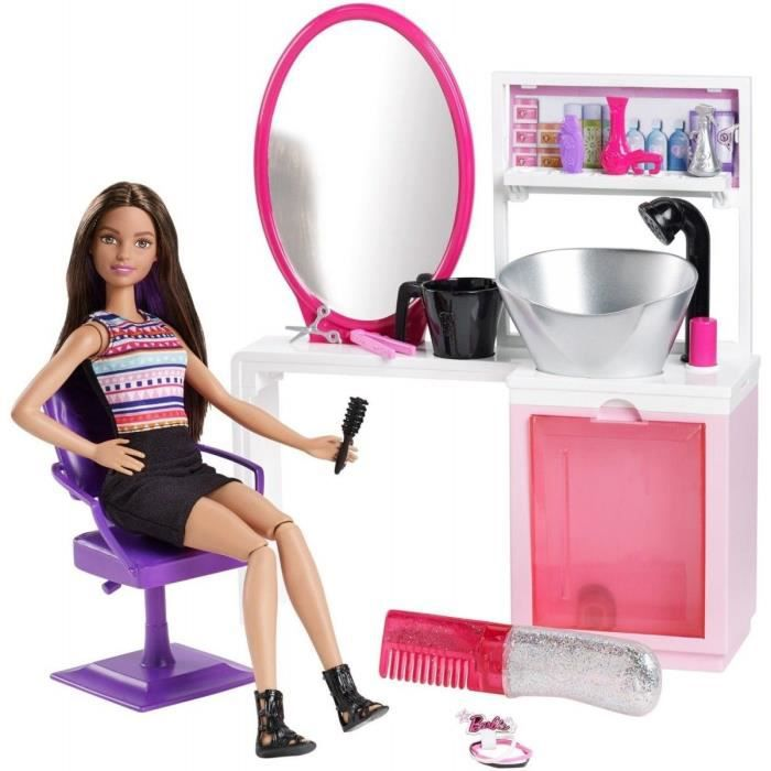 Barbie salon de coiffure et poup e studio coiffure for Salon de coiffure barbie