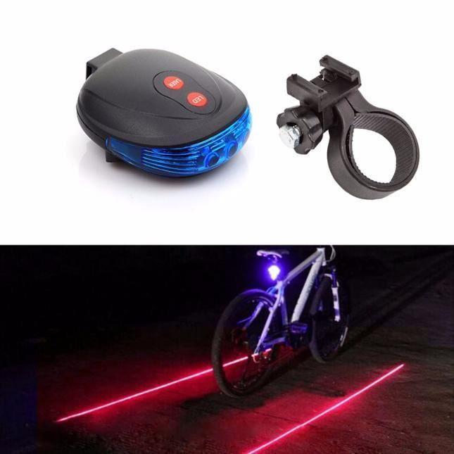 5 DEL 7 Mode Vélo Bicyclette Arrière Sécurité Lumière Flash Lampe