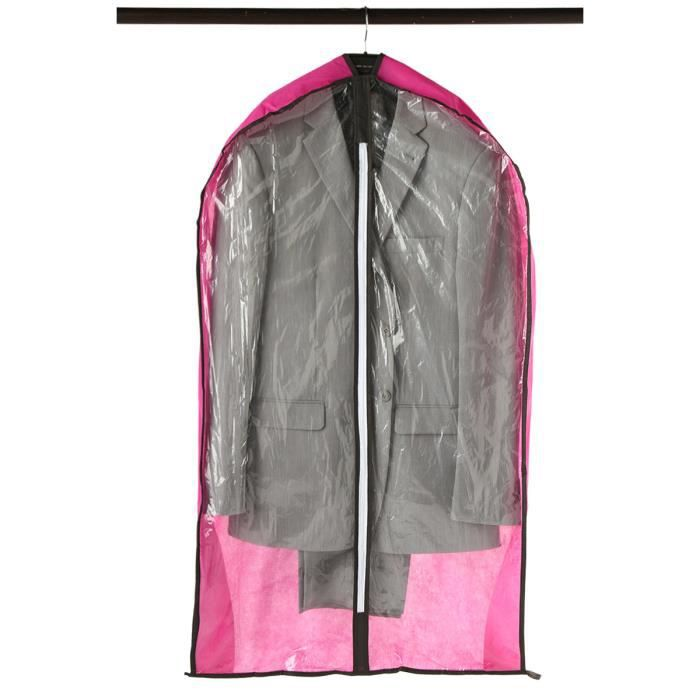 Housse v tements rose achat vente housse habit for Housse vetements penderie