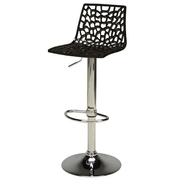 tabouret de bar noir design spider achat vente tabouret de bar polycarbonate m tal black. Black Bedroom Furniture Sets. Home Design Ideas