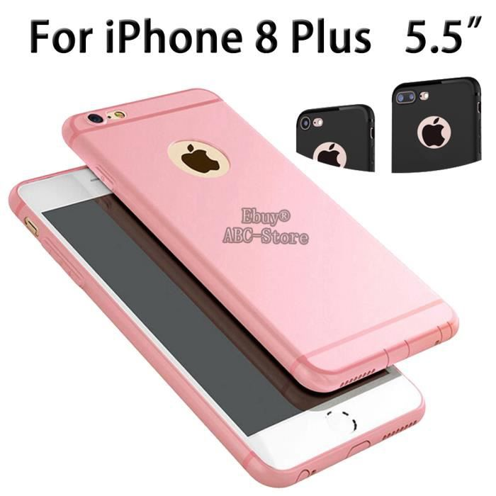 coque iphone 8 rose mat