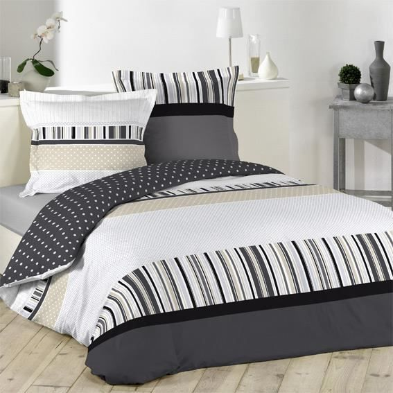 housse de couette et deux taies 260 cm charmant achat. Black Bedroom Furniture Sets. Home Design Ideas