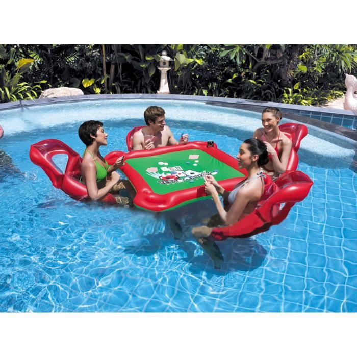 Gonflable table un et chaise lit quatre jeux de piscine for Panier de basket piscine