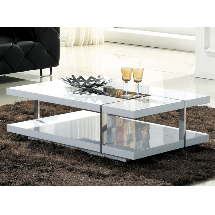 Table basse design laqu blanc achat vente table basse table basse luxe l - Table basse luxe design ...