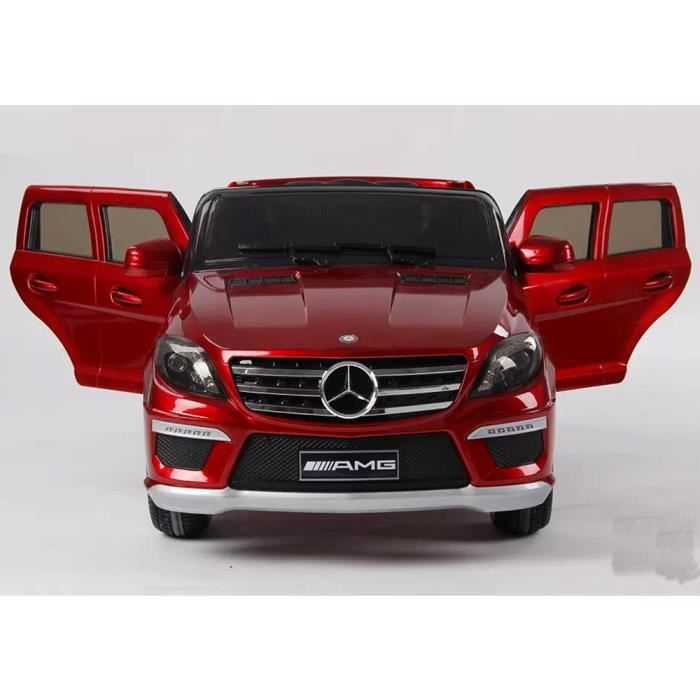 voiture lectrique mercedes 4 4 ml63 t l commande rouge m tal. Black Bedroom Furniture Sets. Home Design Ideas