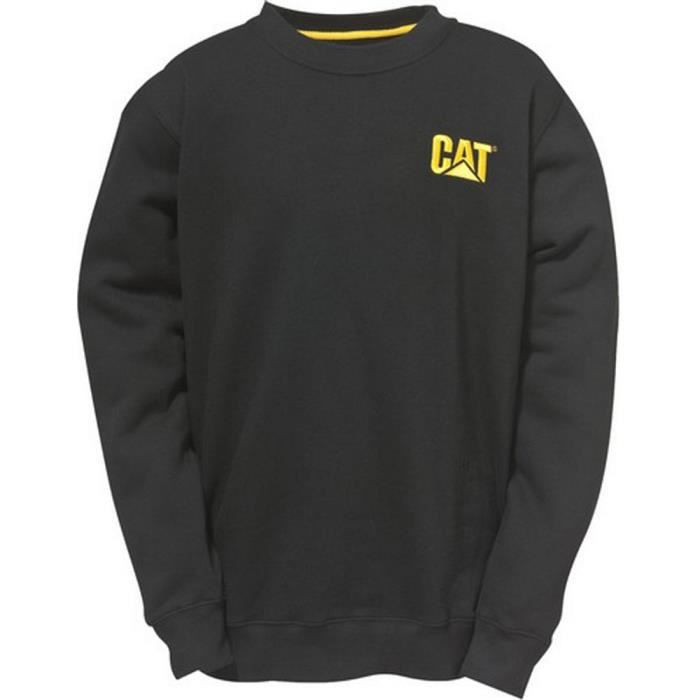 696e1930a Caterpillar Mens Trademark Crewneck Sweatshirt Black