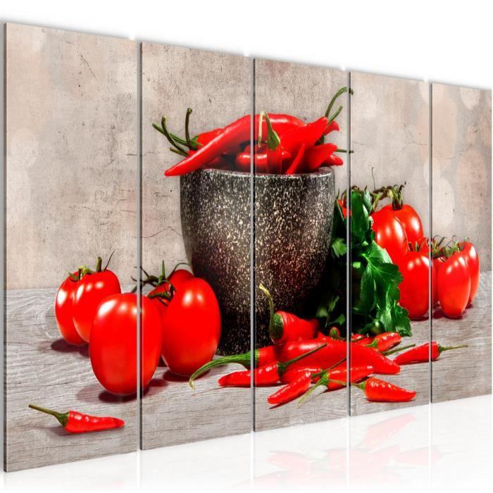 Tableau Toile Photo Cuisine Legumes Decoration Murale 150 X 60
