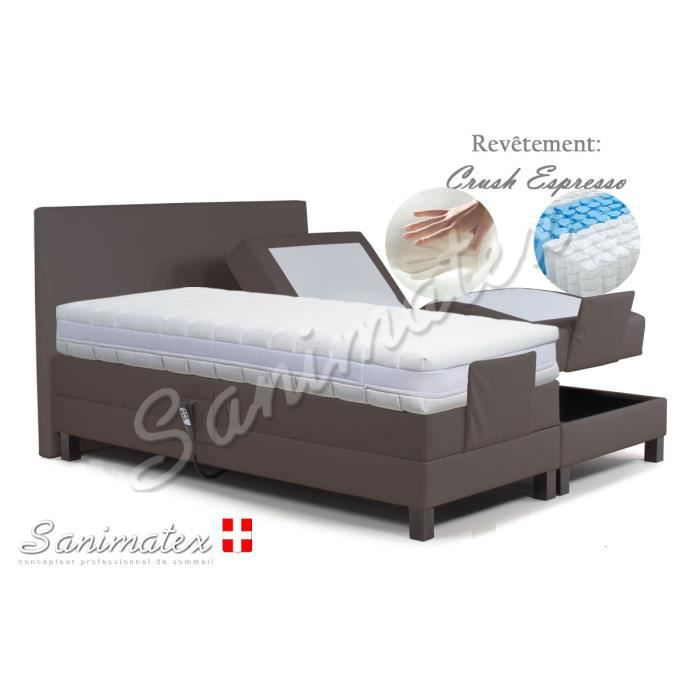 lit electrique boxspring 160x200 vesuvio amazonia sable. Black Bedroom Furniture Sets. Home Design Ideas
