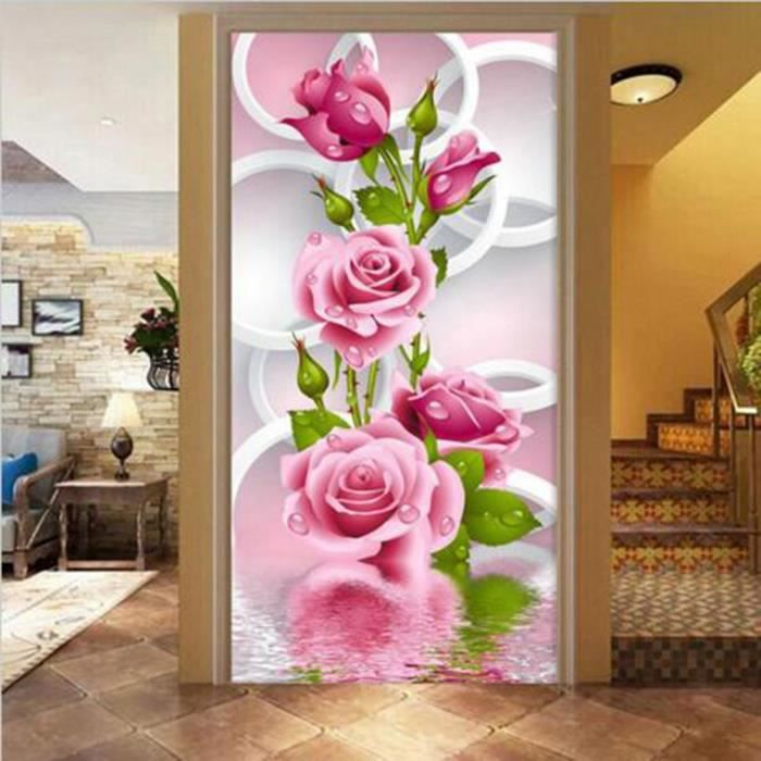 peinture bricolage 5d 3d fleur rose point de croix diamant flores mur d coration autocollants. Black Bedroom Furniture Sets. Home Design Ideas