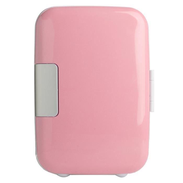 Nouveau Portable réfrigérateur 4 L mini cooler et chauffe-Cosmétique frigo Rose