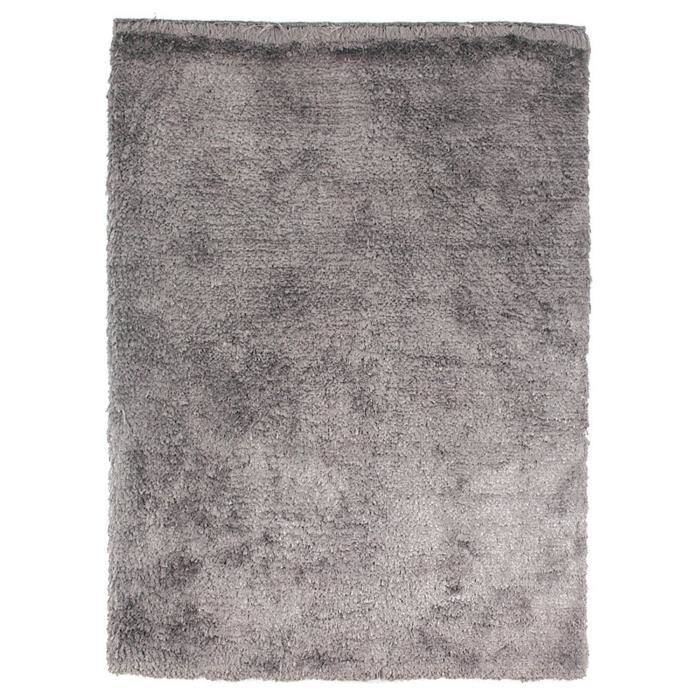 tapis shaggy a poils long imola argent 120x180 achat. Black Bedroom Furniture Sets. Home Design Ideas