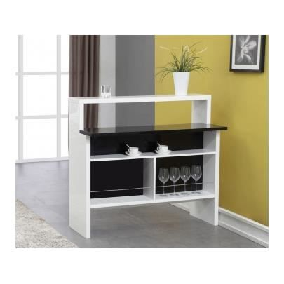 meuble de bar margarita mdf bicolore blanc n achat. Black Bedroom Furniture Sets. Home Design Ideas