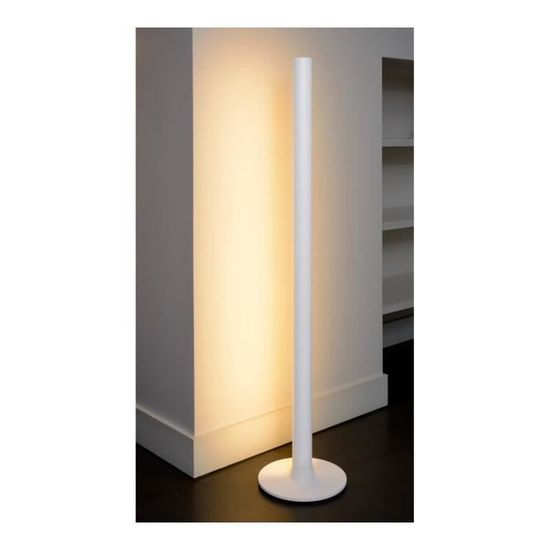 Lumiere Indirecte lampea - lampadaire design tube lumière indirecte led aurel blanc