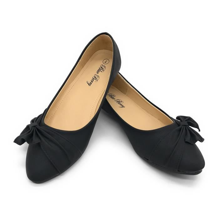 Fashion Easy21 Shoes Flats Faux 36 M0N42 Leather Casual Taille Ballet 6AOTq