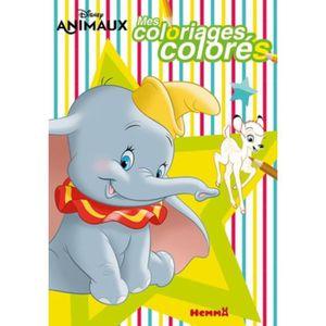 LIVRE LOISIRS CRÉATIFS Mes coloriages colorés Disney animaux