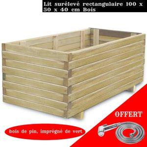 JARDINIÈRE - BAC A FLEUR FIHERO Jardinière rectangulaire 100 x 50 x 40 cm B
