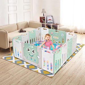 Baby Vivo Parc Bébé Barrière Sécurité Plastique Enfant Protection Porte Panel Jeu Espace Jeu Chambre Milo