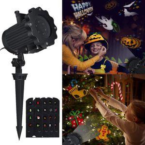 PROJECTEUR LASER NOËL Projecteur Halloween Noël, Projecteur de Lumière L