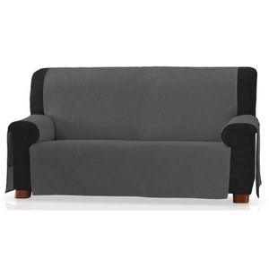 Jacquard marron chocolat Couverture Sofa or couverture canapé Slip 3 places 1 2