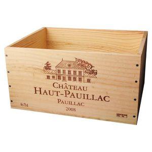 CAISSE ALIMENTAIRE La Caisse Bois 6x75cl estampillé Château Haut Paui