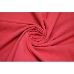 TISSU Tissu Coton Epais Uni Rouge -Au Mètre