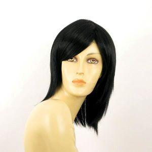 PERRUQUE - POSTICHE Perruque femme mi-longue noire AXELLE 1B