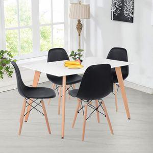 TABLE À MANGER SEULE Table à manger Table de Salon Pieds carrés en hêtr