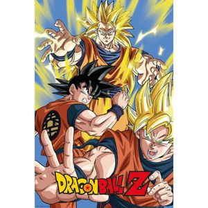 Affiche dragon ball z goku achat vente affiche cdiscount for Decoration murale dragon ball z