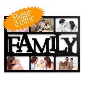 CADRE PHOTO Cadre Multivues Family 6 photos 10x15 cm Noir