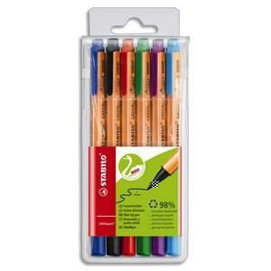 Stylo - Parure STABILO Pochette 6 stylos Feutres GreenPoint Assor