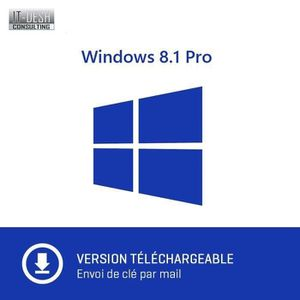 ORDINATEUR PORTABLE Windows 8.1 Pro 32/64 Bit - A Télécharger - Envoi