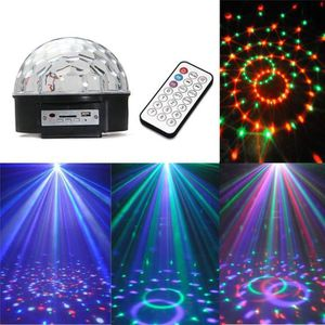 BOULE A FACETTES Magic Ball LED 6x3W USB SD + CLE USB !