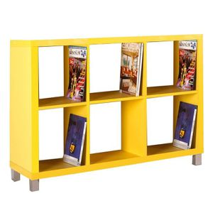 etagere jaune achat vente etagere jaune pas cher soldes cdiscount. Black Bedroom Furniture Sets. Home Design Ideas