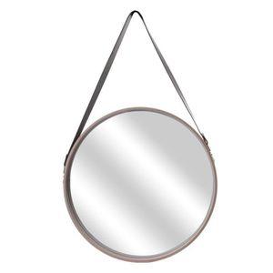 MIROIR THE HOME DECO FACTORY Miroir rond avec anse -Bois